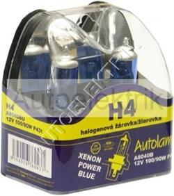 Krabička XENON POWER BLUE, H4, 12V 100/90W, P43t, 2KS